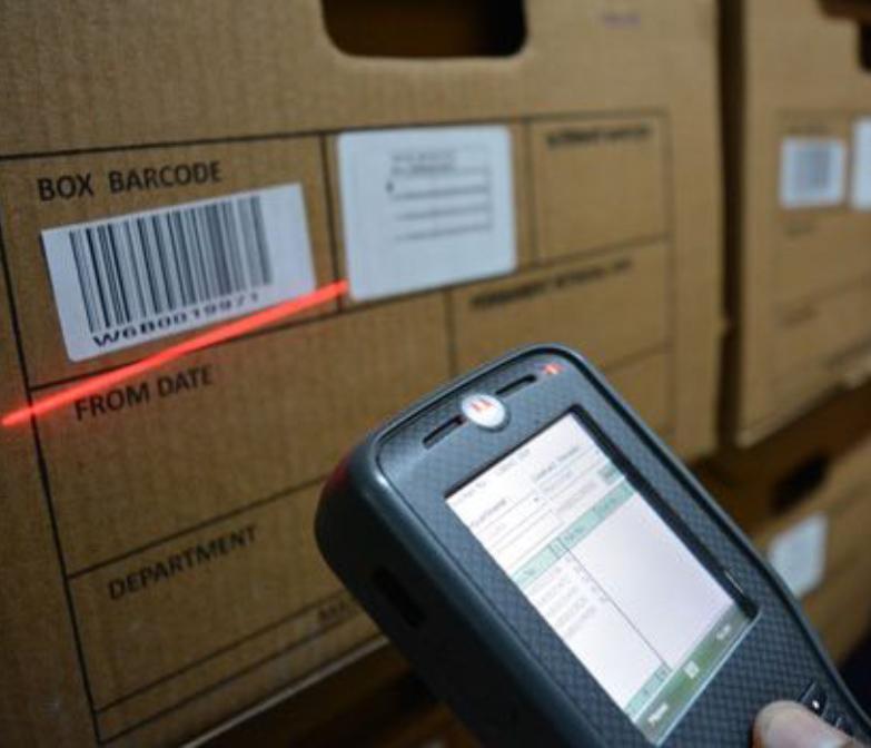 Баркодиране на архивни кутии и кашони поставяне на баркод за съхранение на документи индексиране на документи