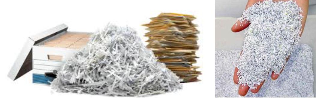 Конфиденциално унищожаване на документи чрез шредиране и претопяване на лични данни
